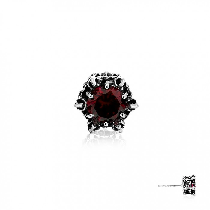 Crown Of Apollo Earring Stud - Red