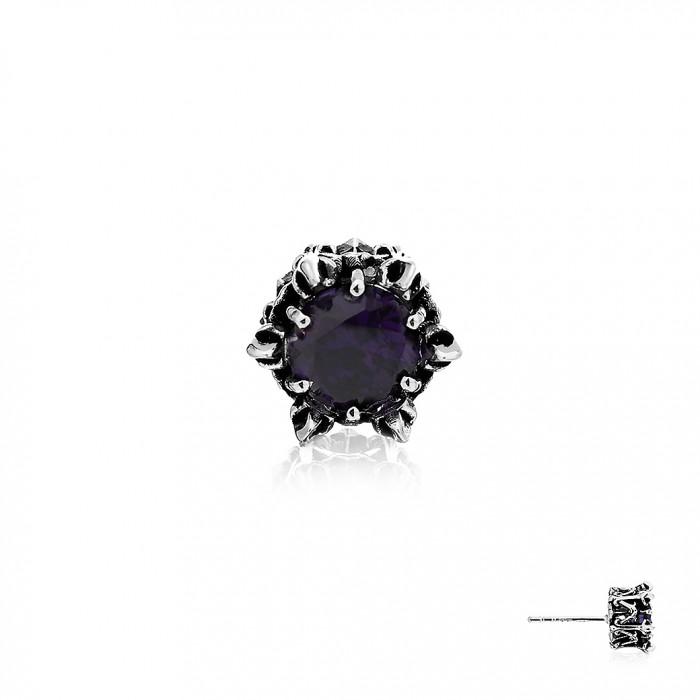 Crown Of Kronos Earring Stud - Purple