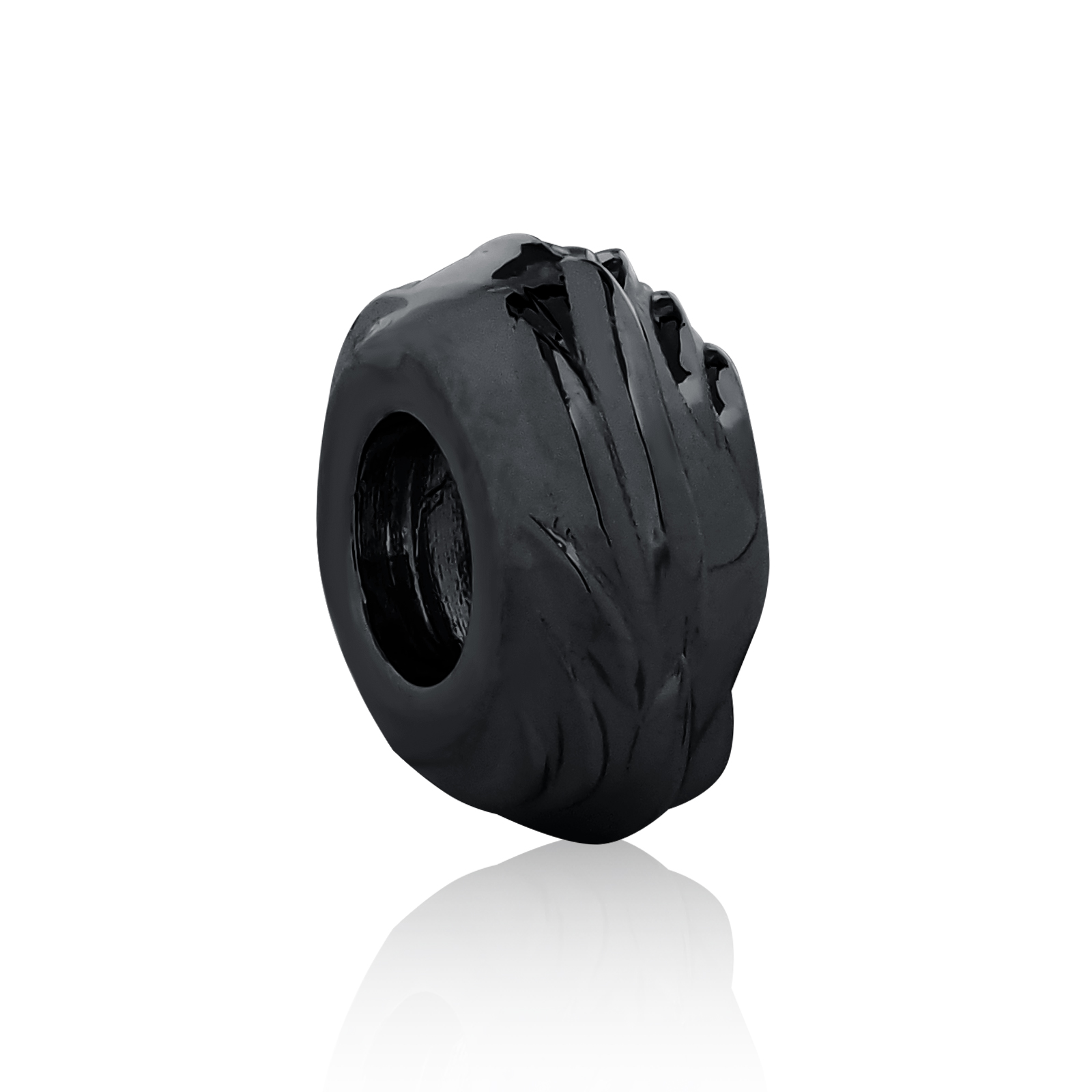 Eagle Wing Spacer Bead - Black