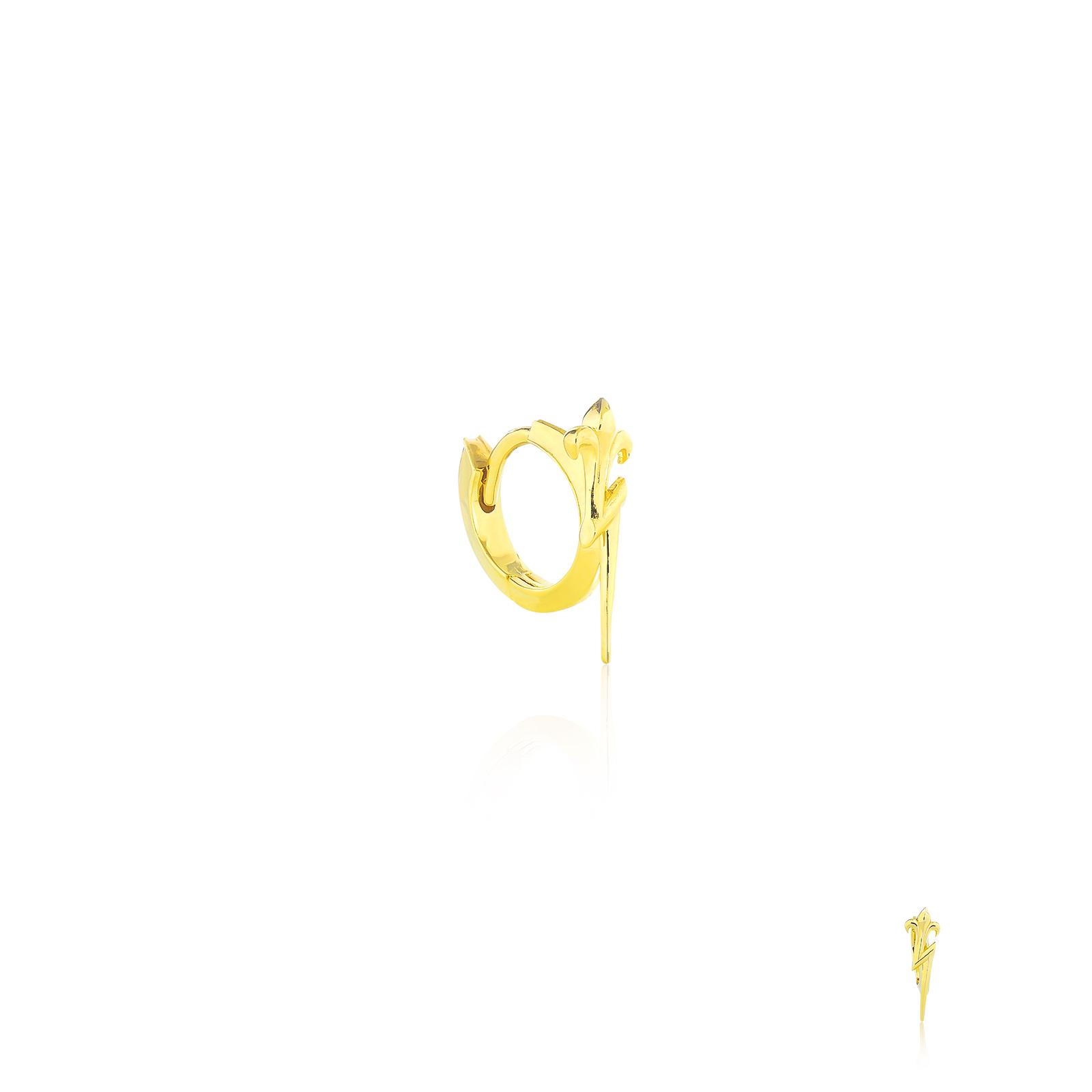 Zeus's Thunderbolt Huggie earring - 24 Karat Gold