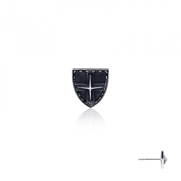Royal Shield Earring Stud