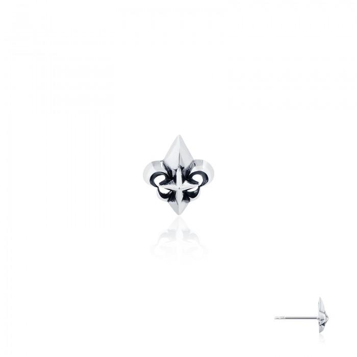 Royal Fierce-De-Lis With Star Earring Stud
