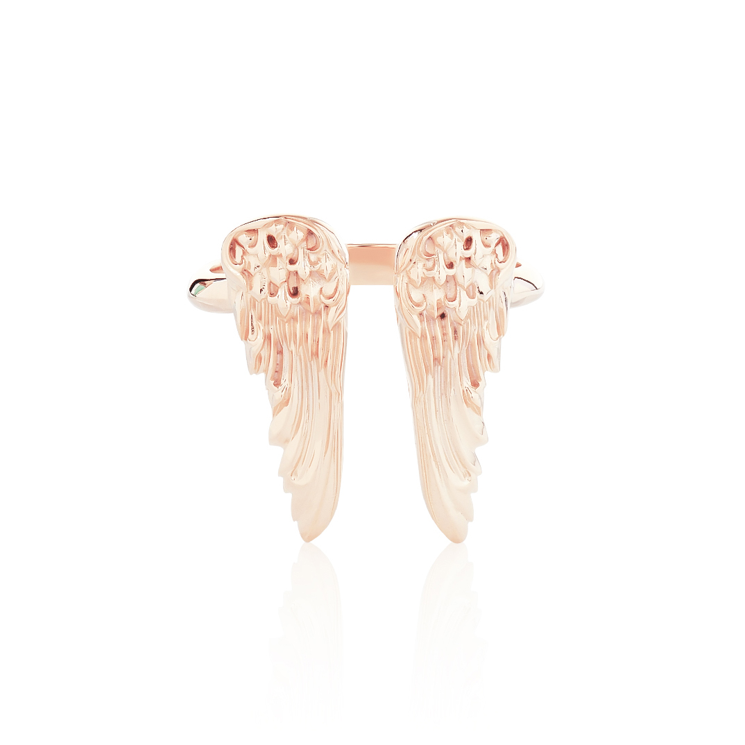 Eagle Duo Wings Ring - Pure Pink