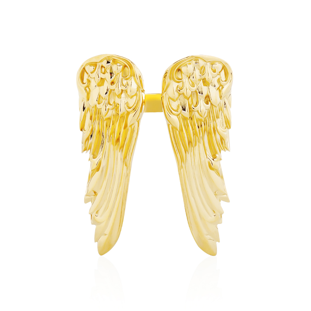 Golden Giant Eagle Duo Wings Ring