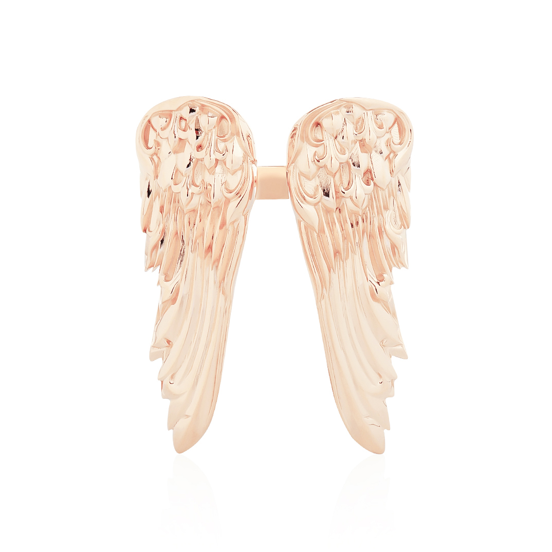 Giant Eagle Duo Wings Ring - Pure Pink